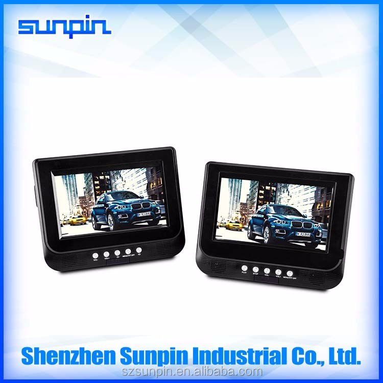Dual Screen Portable DVD Player with New Digital Screen, 7 inch A grade Twins Screen DVD Player