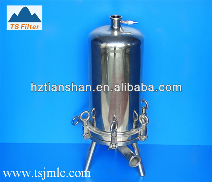 Stainless steel liquid filter cartridge housing for waste water treatment and purify