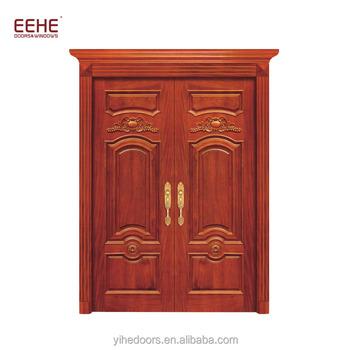 China Manufacturer Double Swing Exterior Wooden Door Buy Double