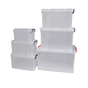 Collapsible container PP clear plastic stackable shoe storage box