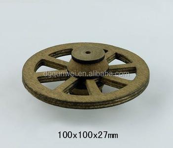 1:12 Scale Dollhouse Furniture Accessories Attachment Wooden Wheels QW60398