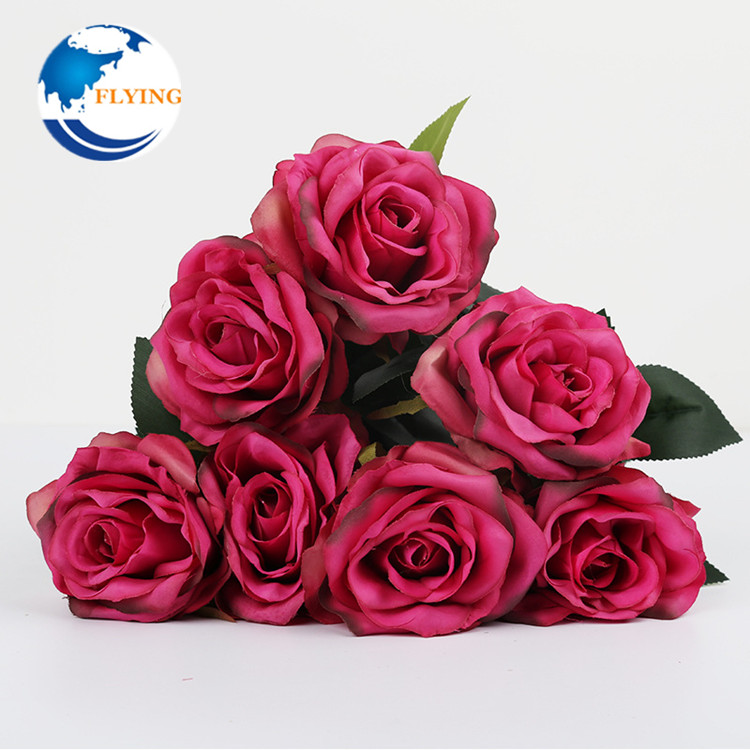 7 Heads Silk Rose Flowers Bridal Bouquet Diy Wedding Accessories Artificial Flowers For Home Party Hotel Decoration Buy Artificial