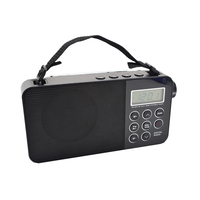 retro alarm clock radio and portable radio with usb sd classic am/fm alarm clock radio