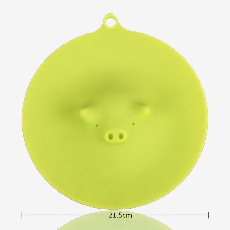 2016 21.5CM Diameter Piggy Cooking Lid Microwave Plate Cover Cute Steamer