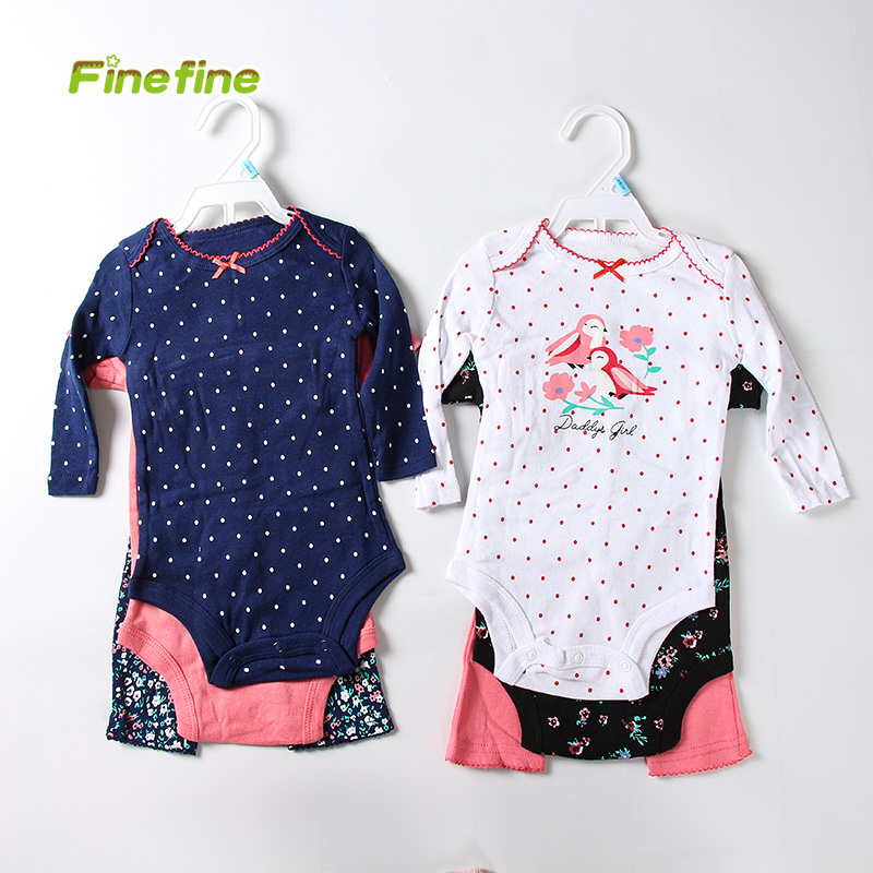Wholesale Summer Spring Cotton Knitted Girl Boutique Newborn Baby Clothing