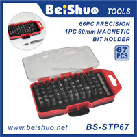 BS-STP67 67-piece Diversified Combination Security Precision Screwdriver Bit Set with Magnetic Bit Holder