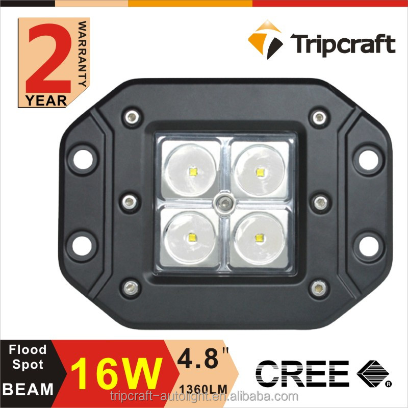 Alibaba manufacture automobile motorcycle accessory 12v 16w led work light ,Spot Beam ,Waterpoof