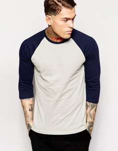 Long Sleeve Plain Blank Custom Cut And Sew T-Shirt