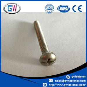 phillips slotted pan head combination screws