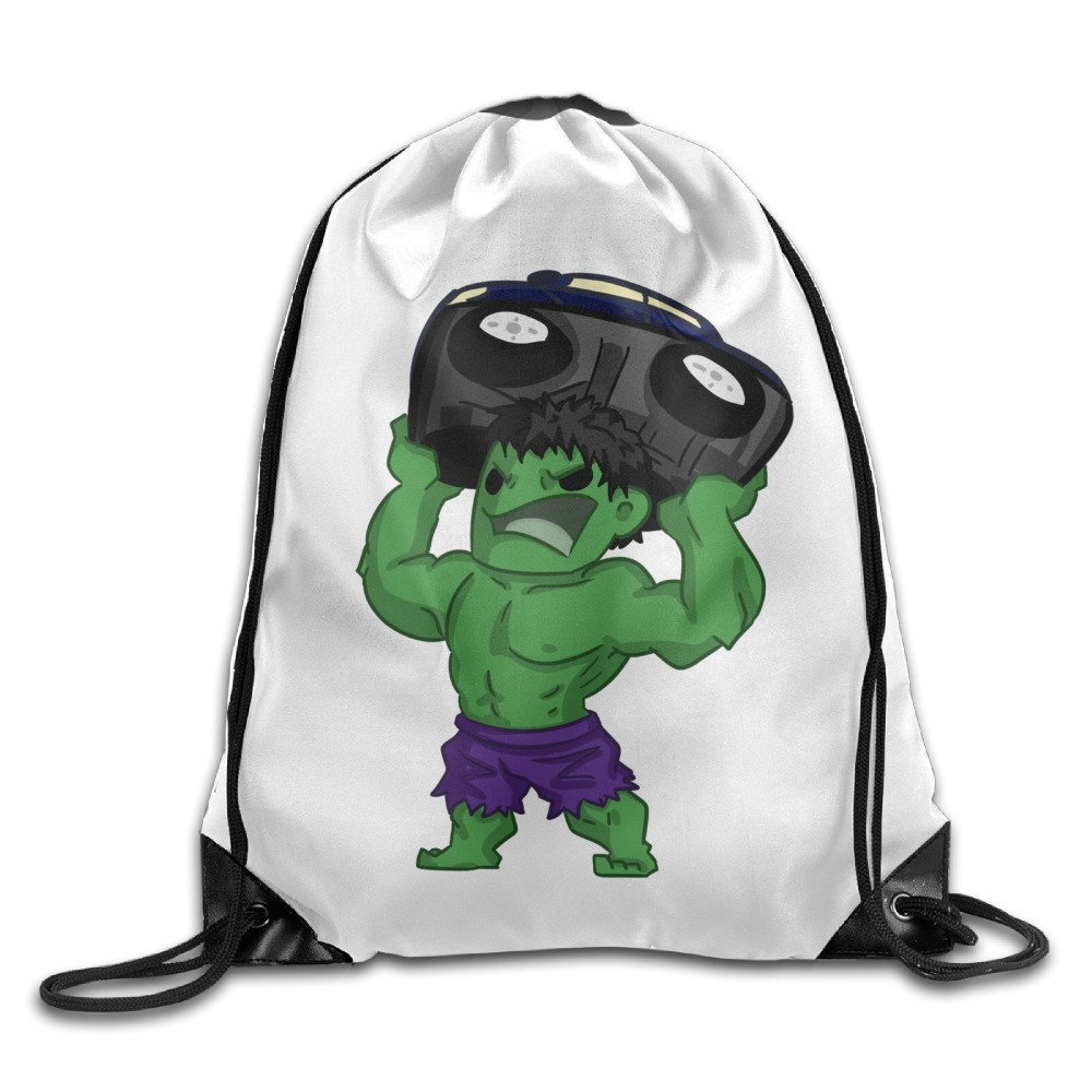 Get Quotations · The Hulk Bruce Banner Lifting Cars Drawstring Backpack  Backpack Bag 674ee744ca