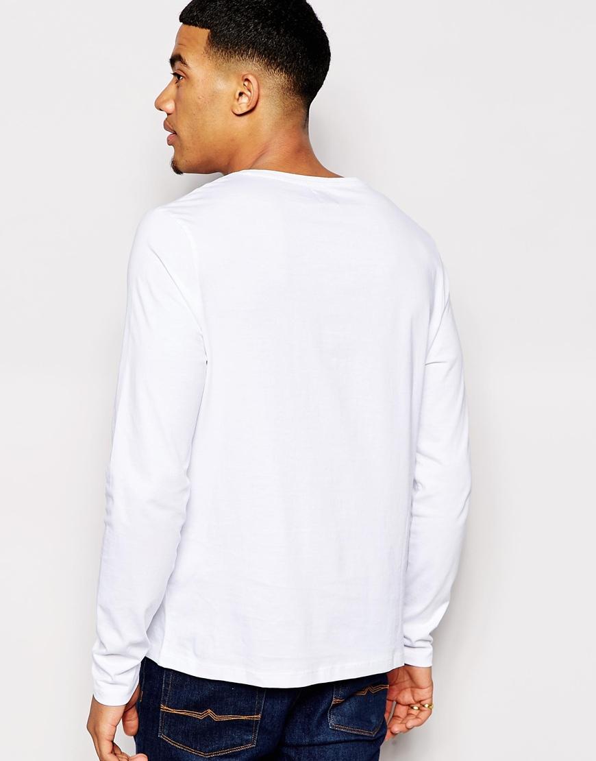 T shirt white blank - 100 Cotton Plain White Blank Mens Long Sleeve T Shirt