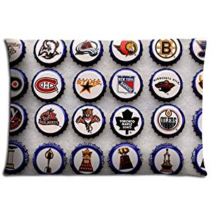 nhl logo Removable Home Pillow Protector Cases Zippered Cotton + Polyester New 20x30 inch 50x76 cm