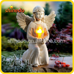 solar resin angel light
