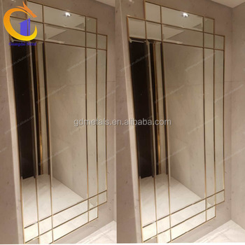 Customized metal stainless steel mirror frame mirror