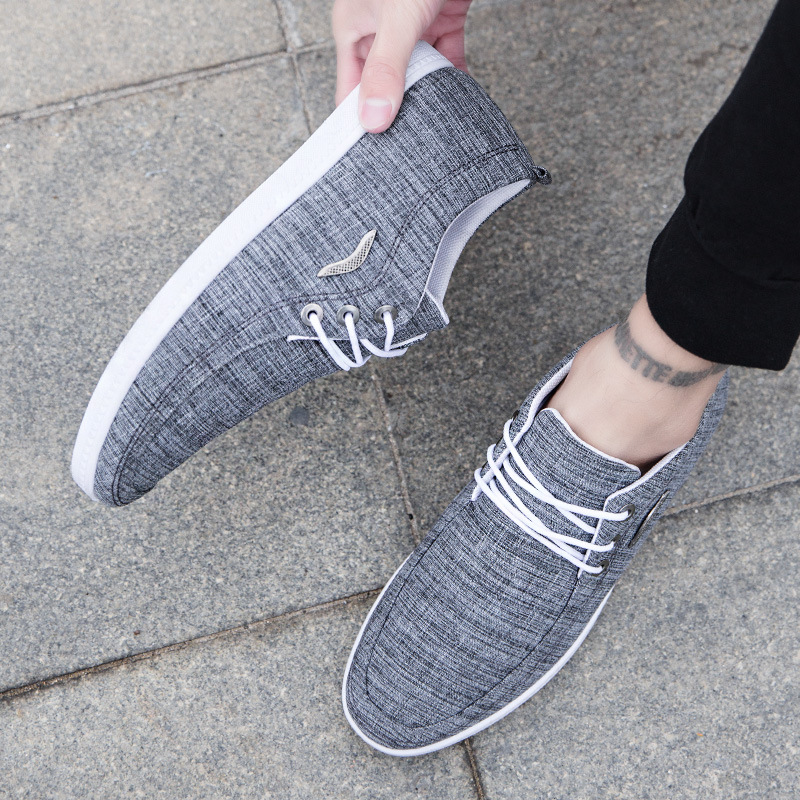 Wholesale 2019 summer new men's shoes men canvas lace-up breathable wild casual shoes