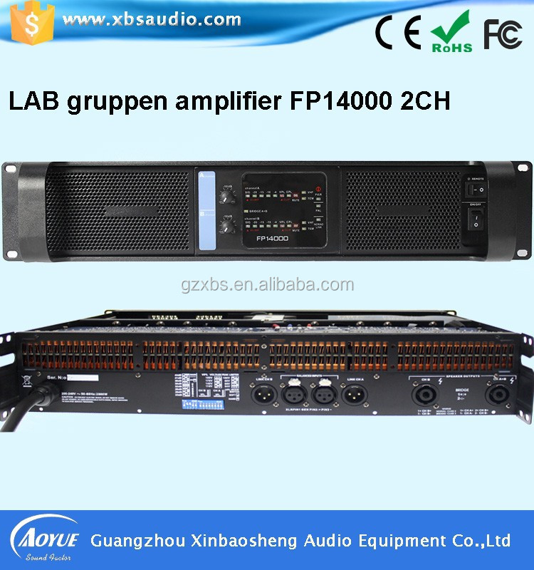 Factory price amplifier for sale! high voltage operational amplifier lab gruppen FP14000