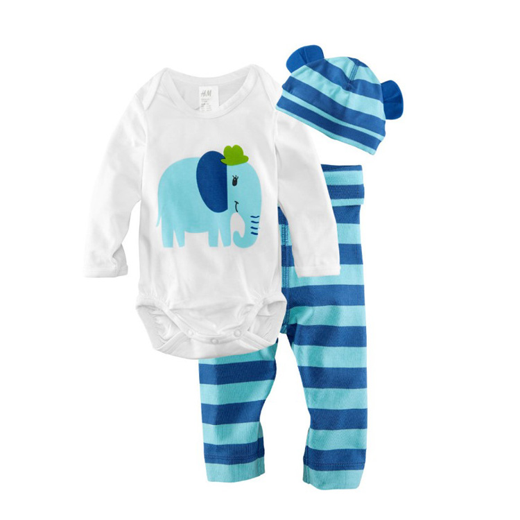 2019 Hot Sale Fashion Elephant Cat Frog Print Animal Cute Design New Born Baby's Clothes Rompers Product Type