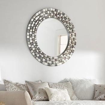 Bedroom Palmer Frosted Tile Silver Round Accent Wall Mirror Buy Oval Dressing Mirror Engraved Venetian Wall Mirror Bedroom Venetian Wall Mirror Product On Alibaba Com