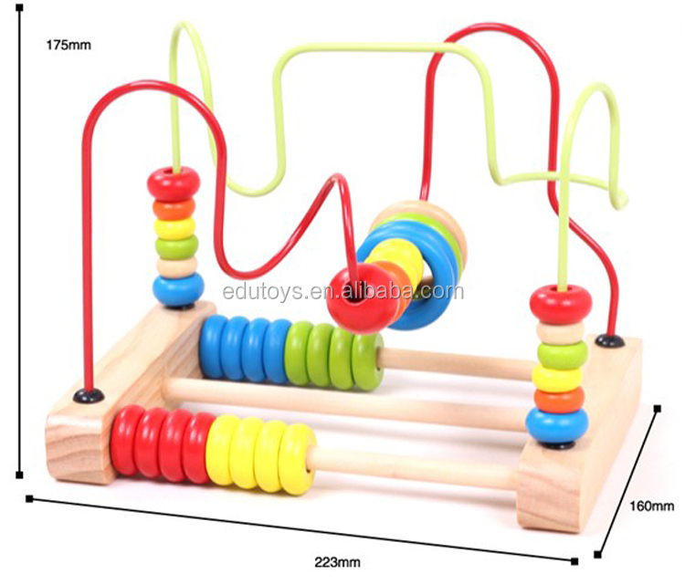 Educational Game Toys Type Wooden Bead Maze Toy Racking Wooden Beads Toys