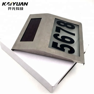Multifunction solar power address sign Solar House Number Lights