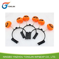 LED Light Up Pumpkin Head Band Halloween Decoration Gift Hair Band