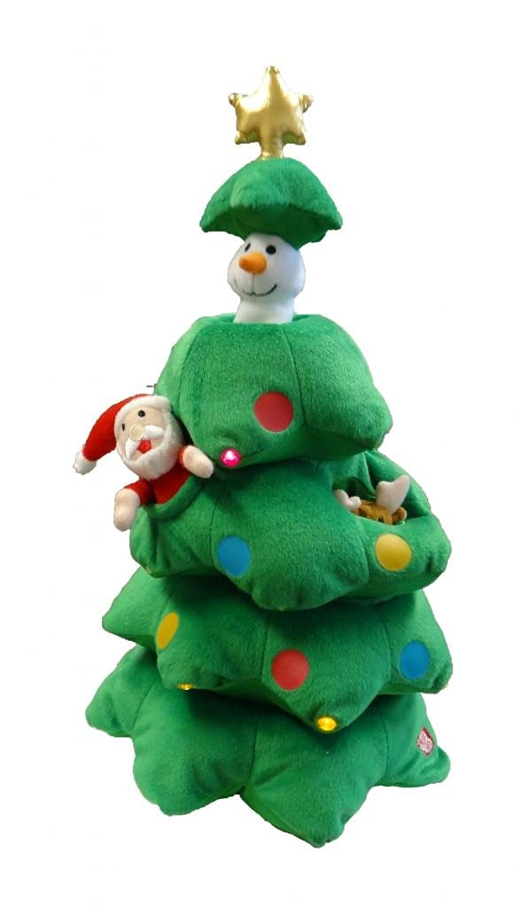 get quotations singing christmas tree santa reindeer snowman polyester musical animatronic plush toy christmas collectible - Animatronic Christmas Decorations