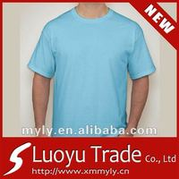 Plain Sky Blue Wholesale T shirts for Men Free to Custom Designs and Different Fabrics