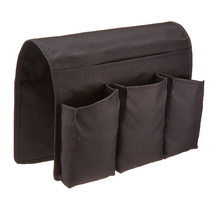 Remote Control Holder Organizer Black Arm Chair Caddy Pocket Organizer