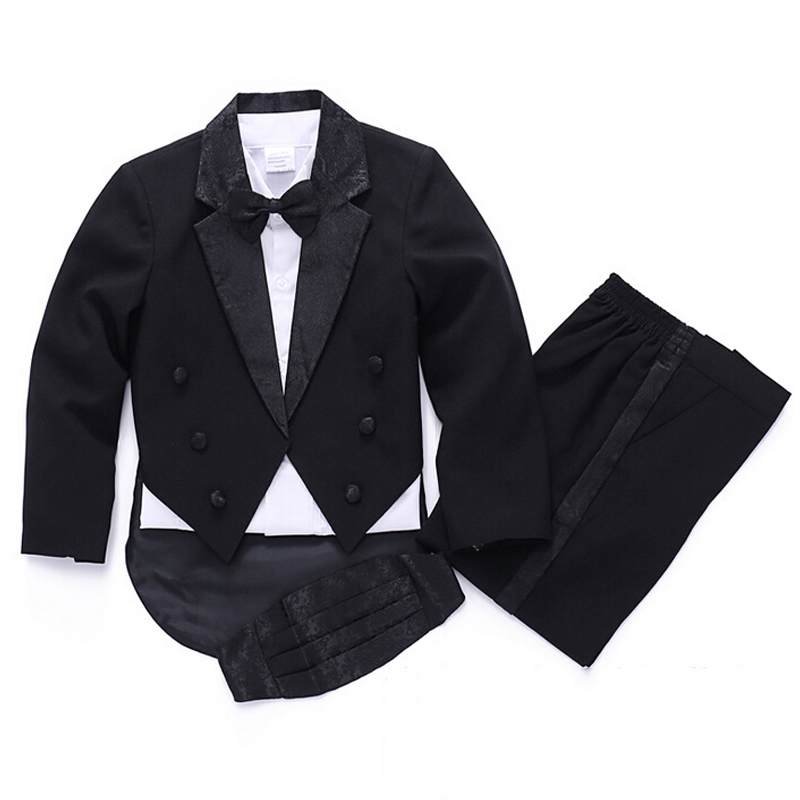 0ac2aee0709b Buy Black Wedding suit for Baby boys Blazers jackets 5 piece Autumn ...