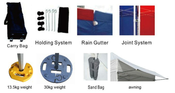 folding iron durable fabric promotion display tents for fairs