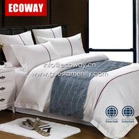Hotel design bedding set 100% cotton bed sheet set duvet cover