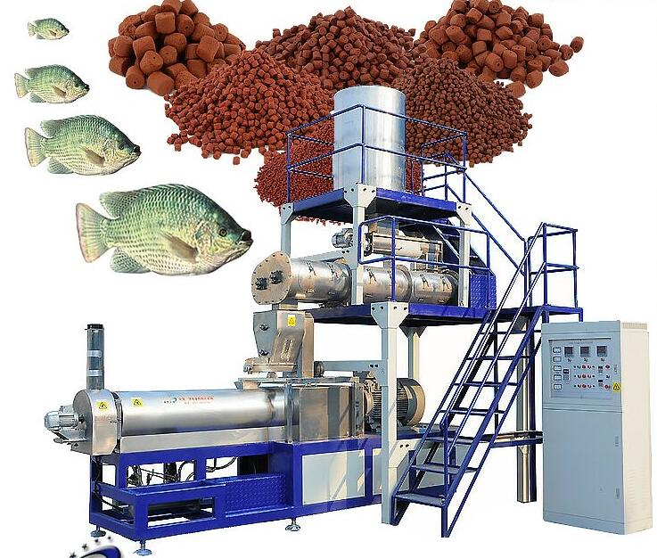 Extruder feed fish used complete floating fish food line