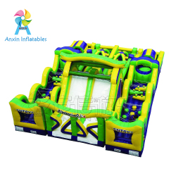 Factory price giant adult cheap challenge race game radical run inflatable obstacle course for sale