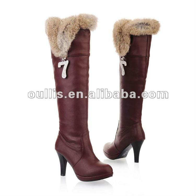 Botas Agradable De Zapatos De Tacón Alto Para Mujer Botas De Agradable Invierno bf145e