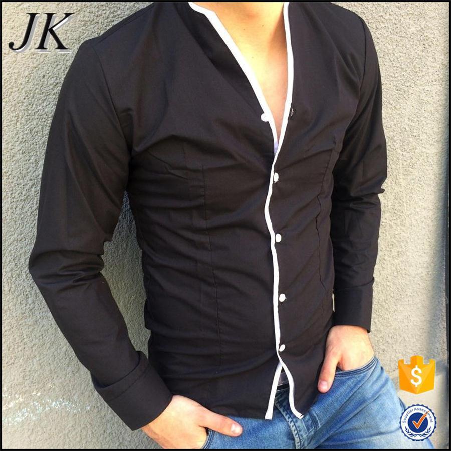 Custom Made Formal Fashion Stylish Kurta No Collar Long Sleeve