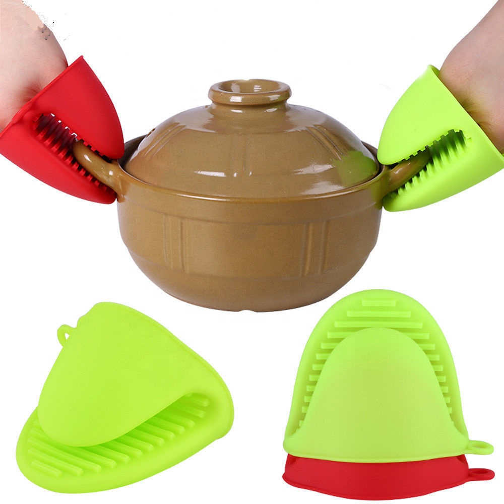 Heat Resistant kitchen silicone glove oven mitt Pot Holder