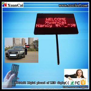 Soft straps High bright chargeable Digital Placard P5-24x72 with printed logo multiple messages LED placard sign display