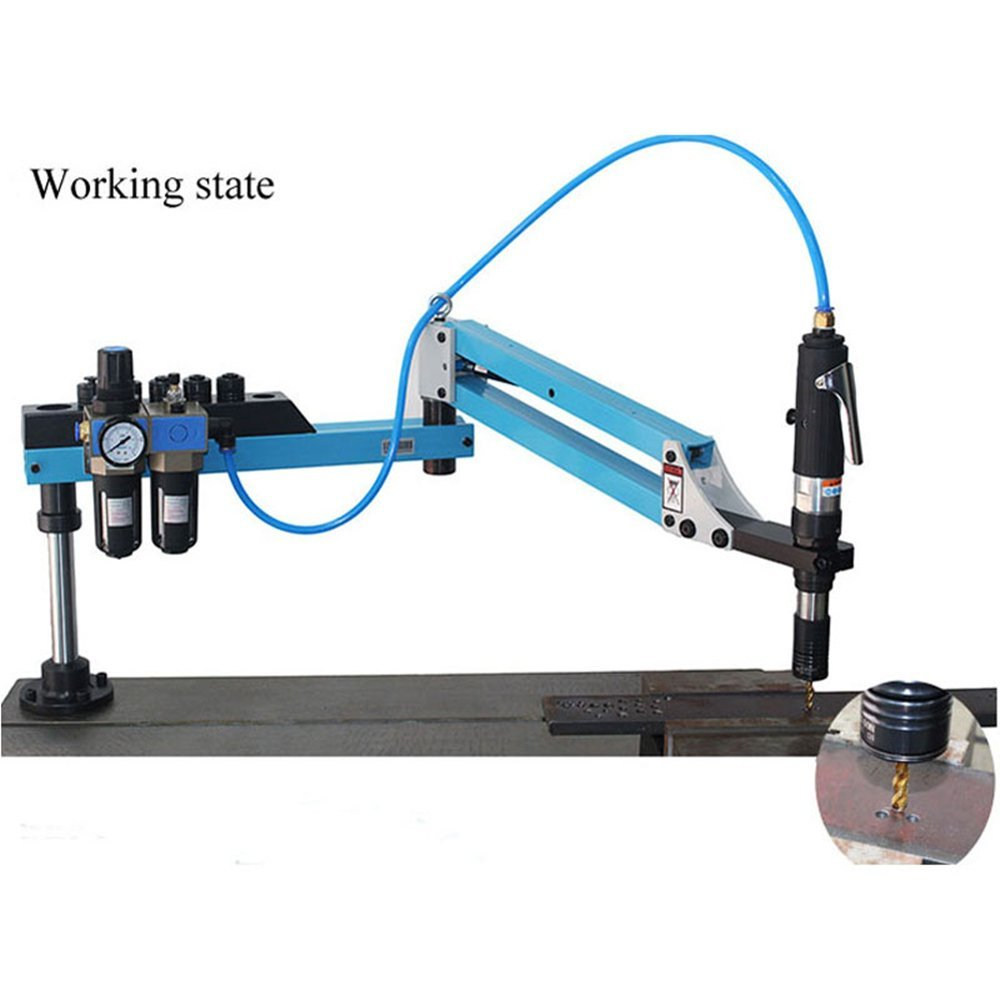M3-M16 Vertical Type Pneumatic Air Tapping Machine Drilling Machine Pneumatic Tapping Machine Tapper Working radius:39.37inch /1000mm