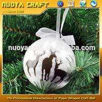 2017 New reindeer printing christmas ornament wholesale
