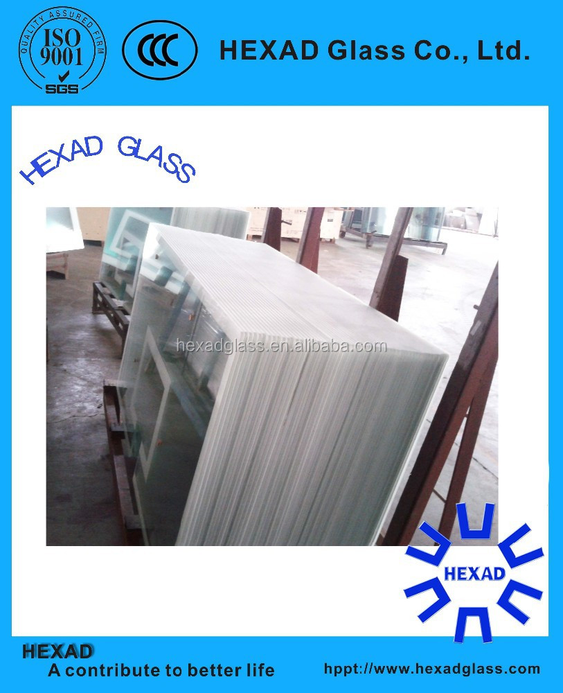 6mm Clear Tempered glass for basketball backboard with ISO Certificate