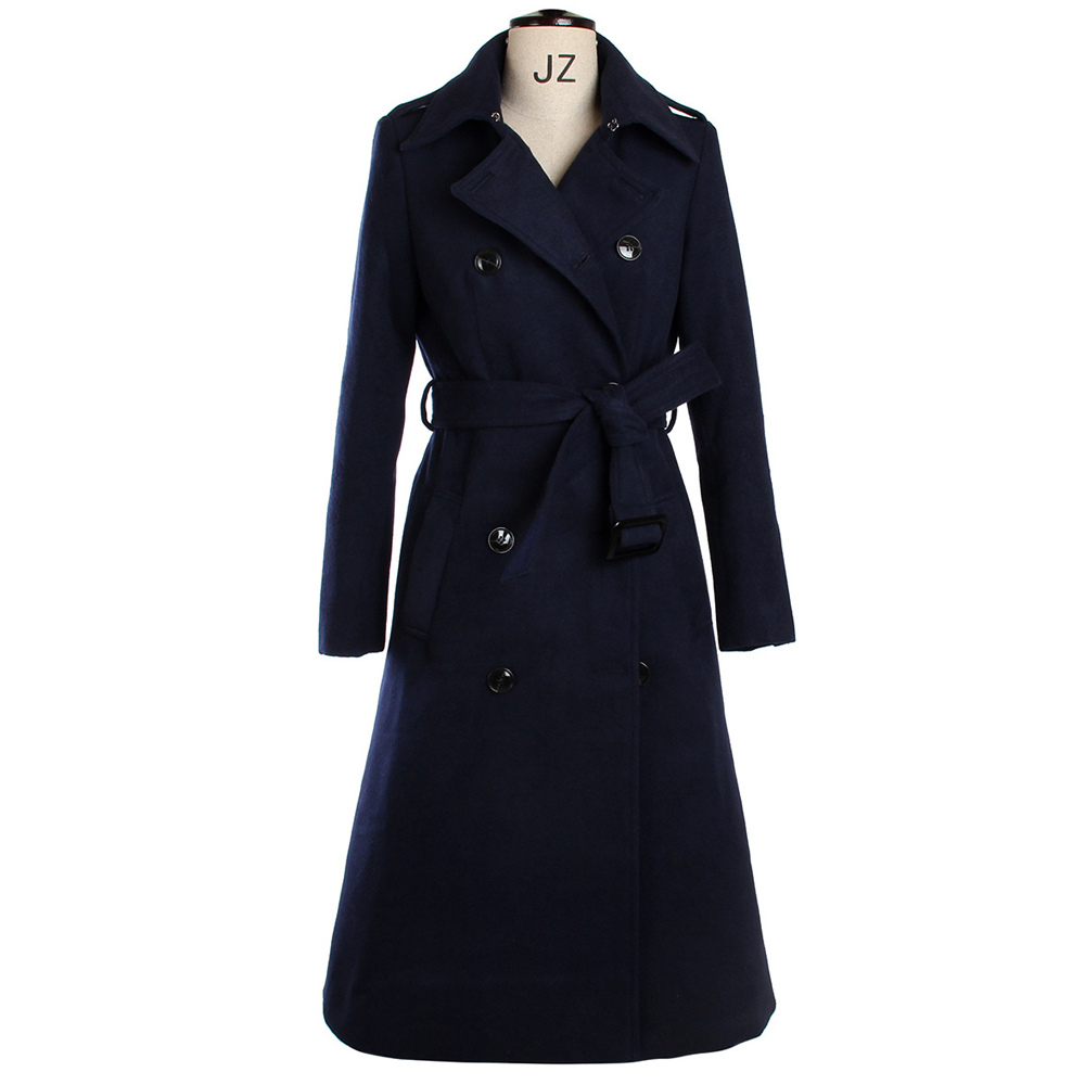 44b11cf23be81 Get Quotations · Winter Coat Women 2015 Drouble Breasted Belt Wool Coat  Plus Size Women Long Trench Coat Casacos