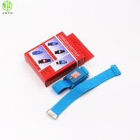 ESD Field Static Control Usage Blue Color Conductive Fabric Band Antistatic Wrist Strap