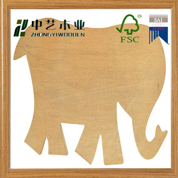 laser engraved decorative customized wall animal shaped decorative MDF art minds wooden plaque