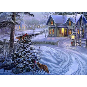 Diamond Painting Christmas Landscape Diamond Embroidery Snow Unfinished Crafts Picture Of Rhinestones Children's Gift