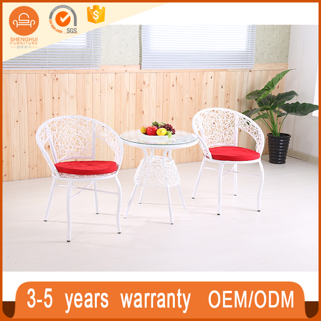 Durable Rattan Wicker Outdoor Garden Furniture Set Coffe Shop Tables And Chairs