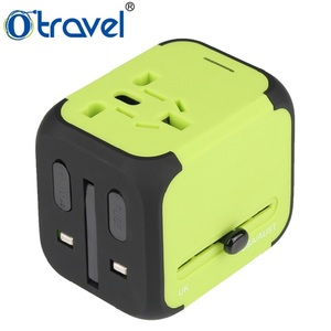 universal ac power socket, universal travel adapter with usb 5V 2.4A output with laser carving logo