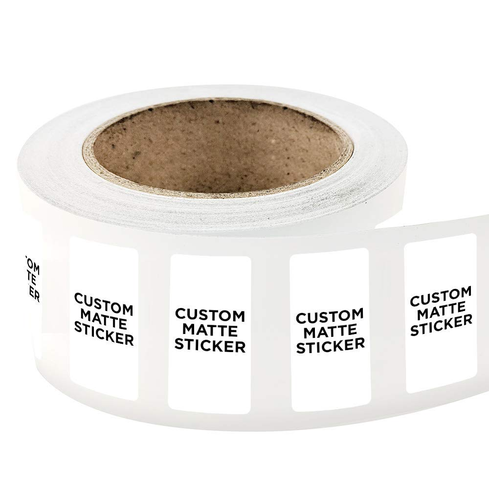 Get quotations · 2000 rectangle shape custom matte roll label stickers 2 x 4 for products