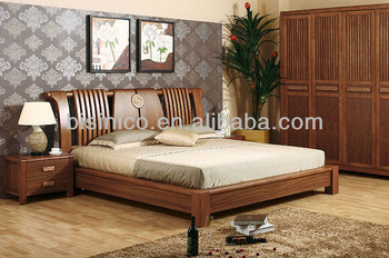 Chinese Style Natural Wooden Beds Carved Furniture Antique Bedrooms With Bed Solid Wood