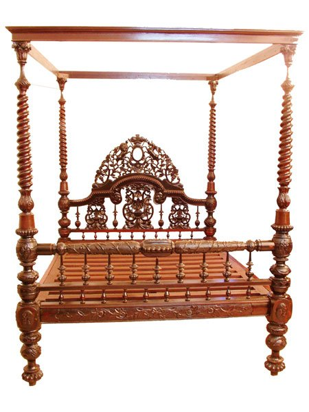 Victorian King Size East India Company Four Poster Bed Buy