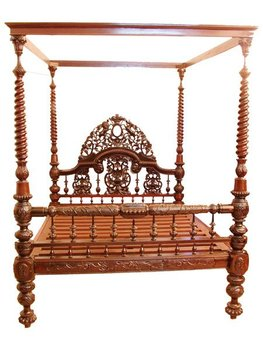 Victorian King Size East India Company Four Poster Bed